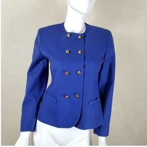 Pendentlon Military Collarless Wool Blazer Sz 8P